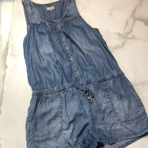 🔥5 for $30 Tractr Denim Button Up Romper